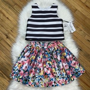 PIPPA & JULIE NWT!! Girls 2pc BEAUTIFUL Skirt&Top